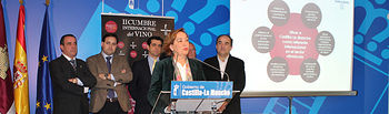 Soriano Presentación II Cumbre Internacional del Vino en Albacete (1). Foto: JCCM.