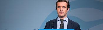 Rueda de prensa de Pablo Casado, Vicesecretario de Comunicación