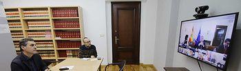 Partición del delegado del Gobierno de España en Castilla-La Mancha, Francisco Tierraseca, en la cuarta reunión del Comité de Coordinación Estatal (CECO) frente al COVID-19, presidida por el ministro del Interior, Fernando Grande-Marlaska, y realizada por videoconferencia.