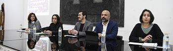 El vicepresidente segundo del Gobierno regional, José García Molina, junto al director general de Participación Ciudadana, José Luis García Gascón, asiste al Encuentro Regional Ciudadano con motivo de la Ley de Participación de Castilla-La Mancha. (Fotos: José Ramón Márquez // JCCM)