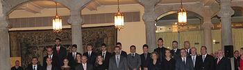 Premiados con la Familia Real y ministros. Foto Ministerio
