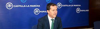 Carlos Velázquez, portavoz adjunto del Grupo Parlamentario Popular en las Cortes de Castilla-La Mancha. Foto: PP CLM.