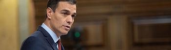 Pedro Sánchez comparece en el Congreso de los Diputados. Foto: Eva Ercolanese