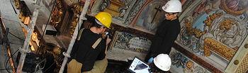 Restauración de las pinturas de la capilla del Convento de los Trinitarios de Valdepeñas.
