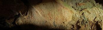 Pinturas rupestres de la Cueca del Niño, Ayna (Albacete). Foto enviada por Ana García Moreno.