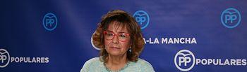 Riolobos en rueda de prensa en las Cortes de Castilla-La Mancha