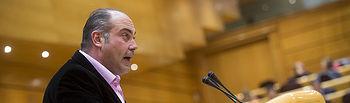 Joan Comorera, senador de En Comú Podem, impulsor de la iniciativa FOTO: Irene Lingua