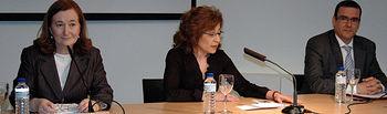 De izqda. a dcha: Petra Mateos, Carmen Córcoles y José Baños
