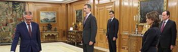 Su Majestad el Rey durante la promesa de José Guirao Cabrera, como ministro de Cultura y Deportes. Foto: Casa Real.