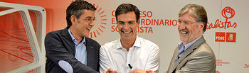 Madina - Sánchez - Tapias. Foto: PSOE.