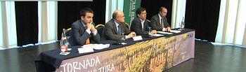 Inauguración oficial de la Jornada de Viticultura organizada por el ITAP en el Palacio de Congresos de Albacete.