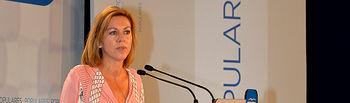 María Dolores de Cospedal en la Clausura de la XXI Interparlamentaria del Partido Popular.