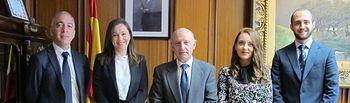 El Presidente del TSJCLM recibe a los jueces en prácticas en órganos judiciales de Castilla-La Manc