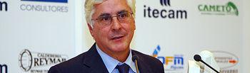 El presidente de Castilla-La Mancha, José María Barreda, interviene en la cena de hermandad de la Asociación para la Investigación y el desarrollo Tecnológico de la industria del Metal en Castilla-La Mancha (ITECAM), hoy en Tomelloso.
