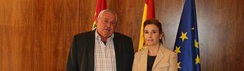 Marta García se reúne con el presidente de ASAJA - Castilla-La Mancha. Foto: JCCM.