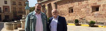Visita del delegado de la Junta en Albacete, Pedro Antonio Ruiz Santos a Villapalacios.