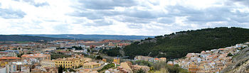 Vista de Cuenca en la hoz que forma el río Júcar a su paso por la localidad.