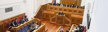 El presidente de Castilla-La Mancha, Emiliano García-Page, interviene, en la primera sesión del Debate sobre el Estado de la Región que se celebra en las Cortes regionales. (Fotos: Ignacio López//JCCM)