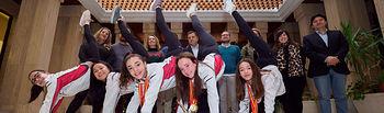 Recepción gimnastas Club Gimnasio Palas en el Ayuntamiento de Albacete