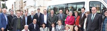 Foto de familia de la Asociación de Párkinson de La Roda