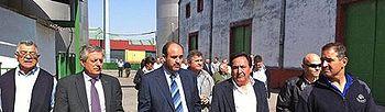 Martínez Guijarro visitó hoy en Miguel Esteban (Toledo), las Cooperativas San Isidro y El Carmen