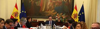 El presidente del Gobierno, Pedro Sánchez, preside la reunión del Consejo Ministros.