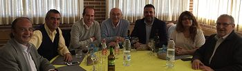 El delegado de la Junta en Guadalajara se reúne con los miembros del Centro Segoviano de Guadalajara