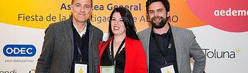La autora del trabajo recogió el premio en Barcelona. © UCLM