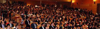 Numeroso público asistió a la ceremonia en el Paraninfo Luis Arroyo