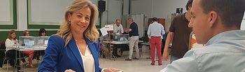 Lola Merino votando. 26M.