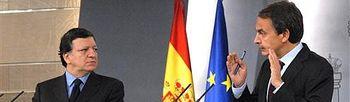 José Luis Rodríguez Zapatero y José Manuel Durão Barroso. Foto: Moncloa