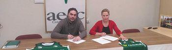 Convenio colaboración Albacete Basket- AECC.