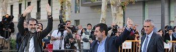 Jordi Sànchez y Jordi Cuixart. Foto: Europa Press.