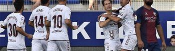 Fútbol Huesca - Albacete - Imagen de la celebración del gol del Albacete.
