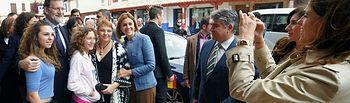 Cospedal y Rajoy durante su visita a Puerto Lápice (Ciudad Real)