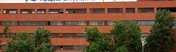 Fachada del Hospital Universitario de Guadalajara.