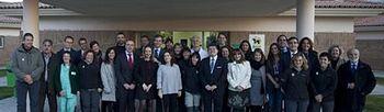 Soraya Sáenz de Santamaría junto con representantes de la Fundación ONCE (Foto: Pool Moncloa)