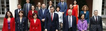 Primer Consejo Ministros Pedro Sánchez - 08-06-18 (13) - Pool MoncloaJ.M. Cuadrado El jefe del Ejecutivo, Pedro Sánchez, preside el primer Consejo de Ministras y Ministros de su Gabinete en La Moncloa.