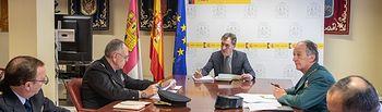 reunióndel delegado del Gobierno de España en Castilla-La Mancha, Francisco Tierraseca, con los responsables de Policía Nacional y Guardia Civil en la comunidad autónoma.