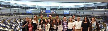 Estudiantes castellano-manchegos ponen en valor las instituciones europeas gracias al proyecto Euroescola. Foto: JCCM.