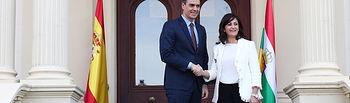 El presidente del Gobierno se reúne con la presidenta de La Rioja. Foto: fervero-67