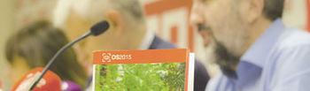 Lola Santillana, Jose Luis Gil y Julian Gutierrez presentando la guia del Observatorio Social 2015
