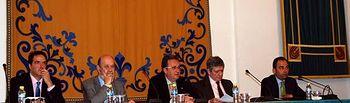 José Antonio Negrín, José María Gil-Robles, Juan José Rubio, Enrique Barón y Jesús de Paz.
