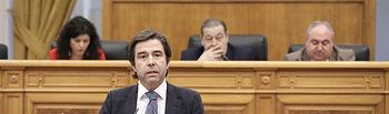 Robisco, en el Pleno de las Cortes regionales.