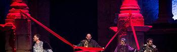 """La tragedia épica """"El Cerco de Numancia"""" y """"Sanchica, Princesa de Barataria"""" cierran el ciclo cervantino del Festival de Teatro de Chinchilla. Foto: JCCM."""