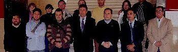 La delegación chilena con el Vicepresidente