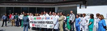 Concentración en el Hospital de Ciudad Real