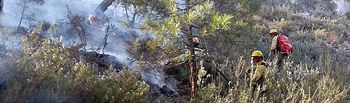 Incendio forestal Paterna del Madera. Foto: @Plan_INFOCAM