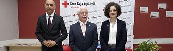 Germán Nielfa Guevara (Secretario Provincial de Albacete), Eloy Ortiz González, (Presidente Provincial de Albacete) y Eva Callejas Martínez, (Coordinadora Provincial de Albacete). Foto: Arturo Pérez.