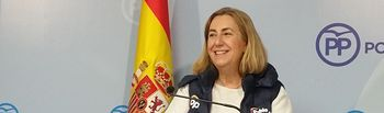 Silvia Valmaña, en rueda de prensa.
